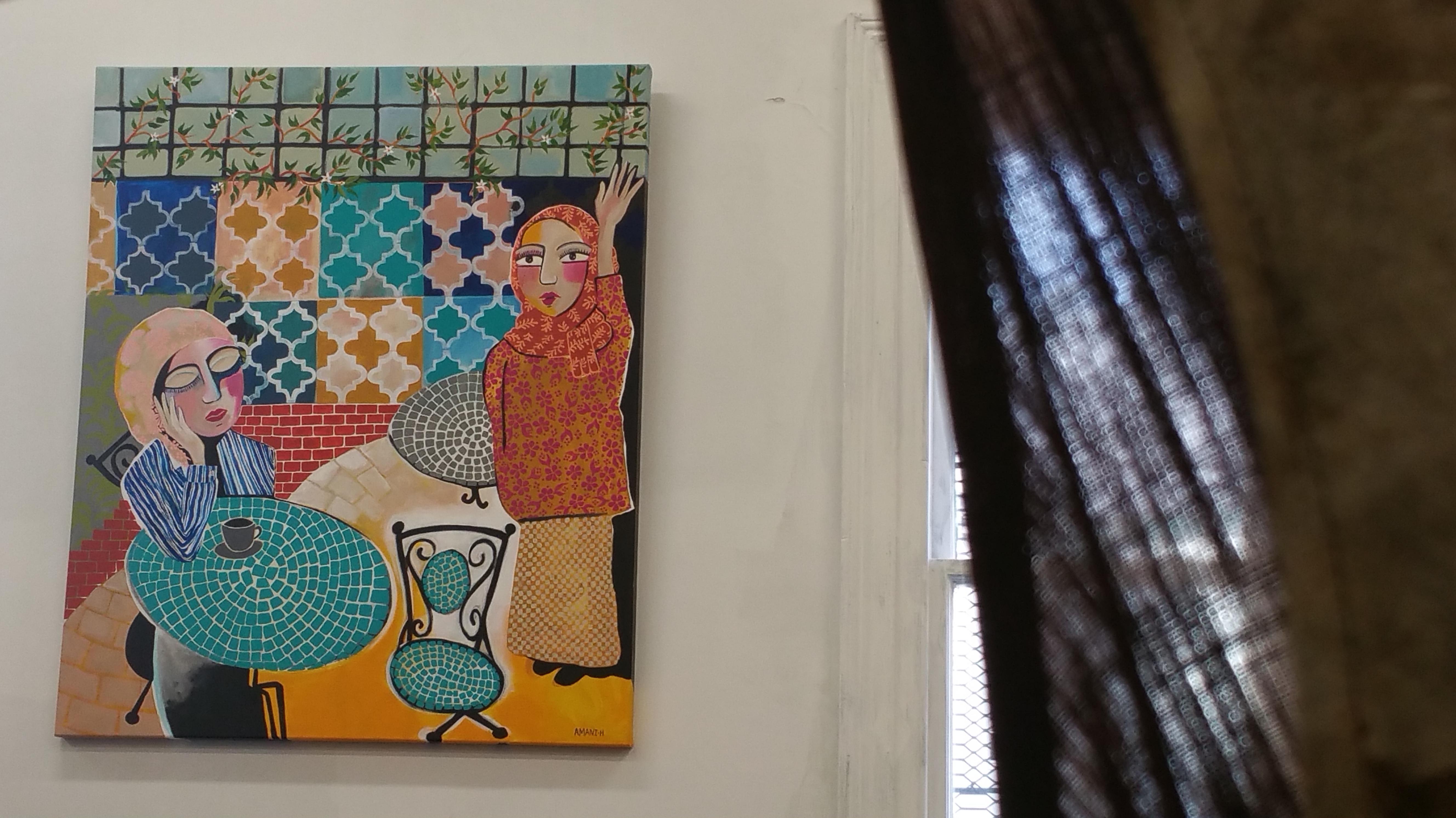 Amani Haydar's work in the Herland exhibition