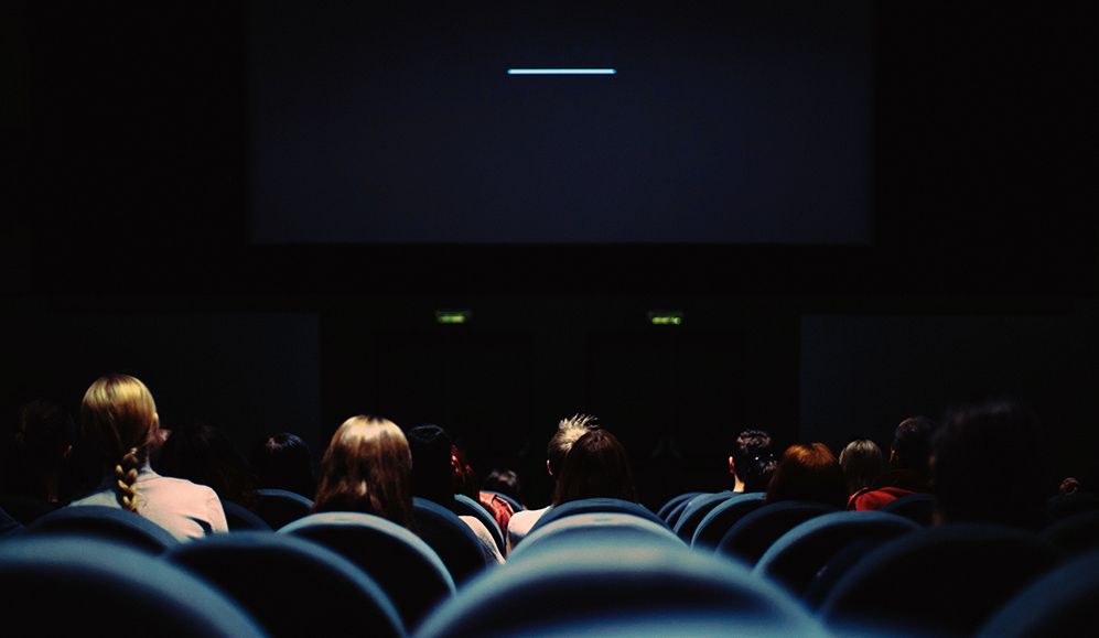 Women watching a film
