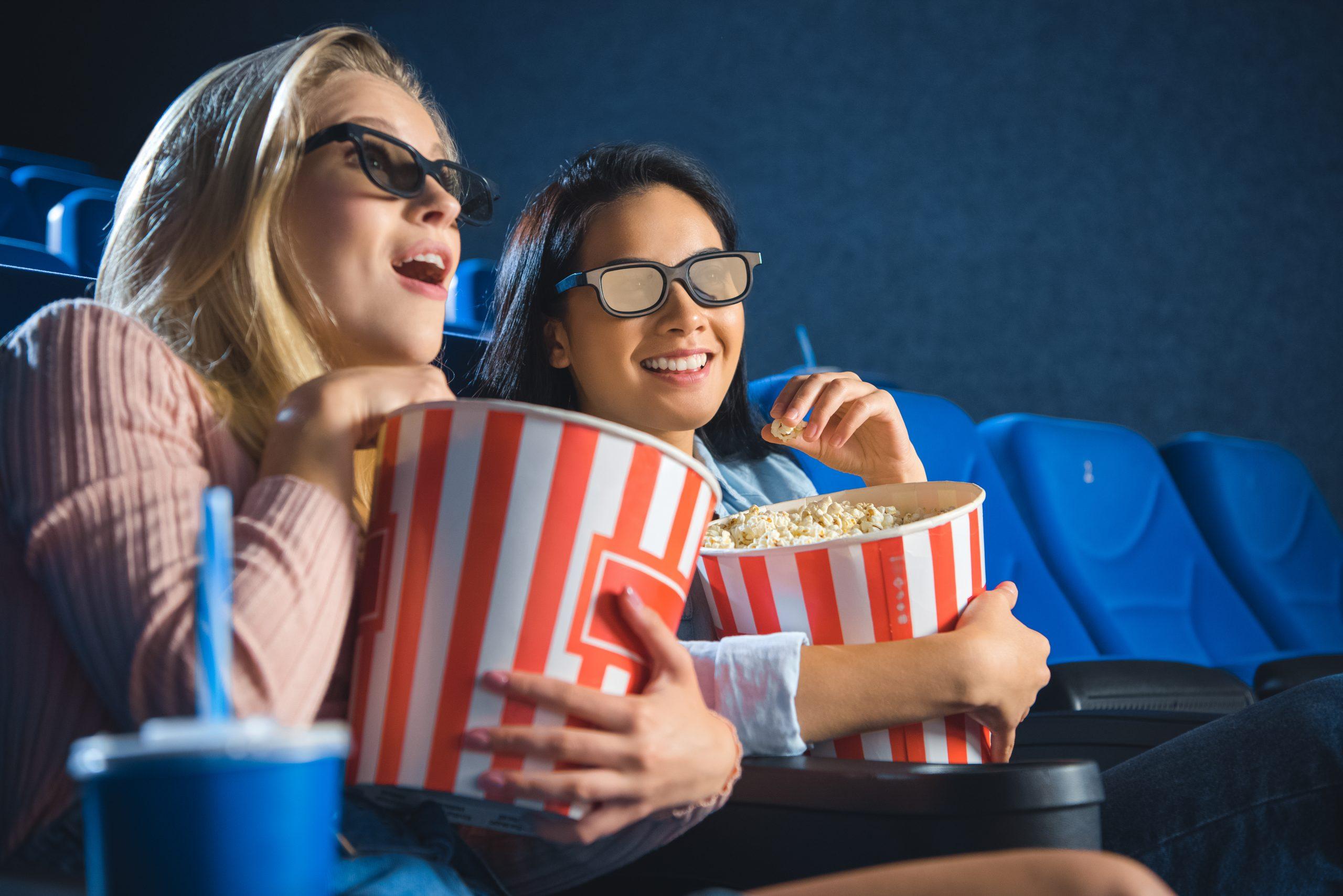 Women watching a film
